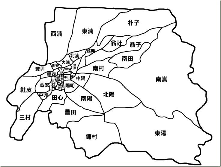 豐原行政區圖36里名