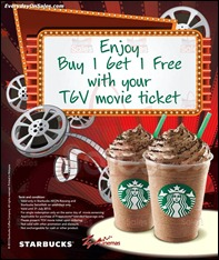 Starbucks Buy 1 Free 1 Promotion 2013 All Shopping Discounts Savings Offer EverydayOnSales