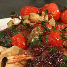 Roast Shoulder of Lamb with Tomatoes and Garlic