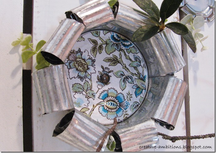Spring Mantel Tin Can Flower