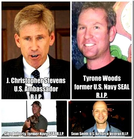 Chris Stevens, Glen Doherty, Tyrone Woods, Sean Smith