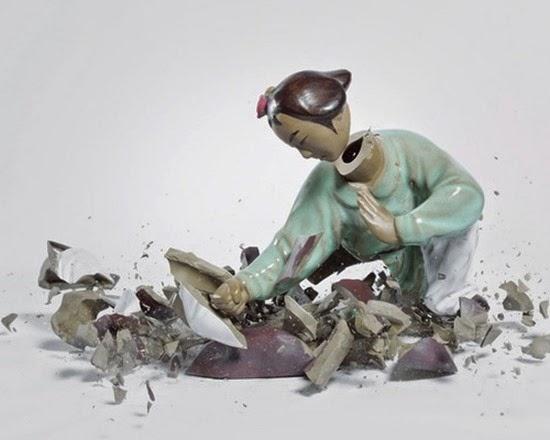 Série Porcelana quebrando 07