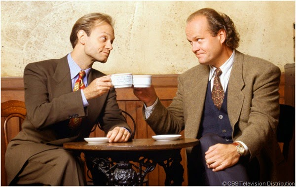 "(L-R) David Hyde Pierce and Kelsey Grammer star in ""FRASIER"""