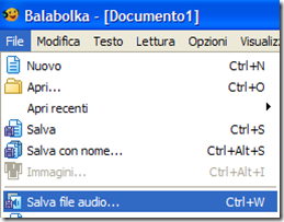 Balabolka Salva file audio