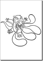 desenhos para colorir do Ben 10 glutão