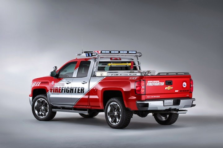 2013 SEMA Chevrolet Silverado VolFirefighter 005 Chevrolet Silverado Black Ops and Volunteer Firefighter Concepts