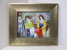 Signed Painting Of Two Women