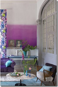 Dip dye ombre walls- PURPLE via poppytalk