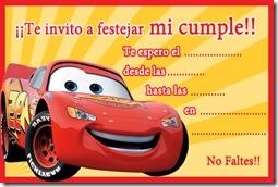 invitaciones de cars para imprimir gratis