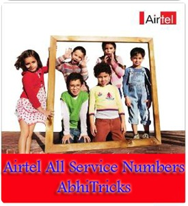 Airtel All service Numbers