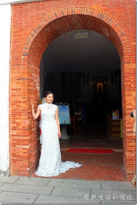 屏東-萬金教堂。當天還有新娘子來萬金教堂拍婚紗。