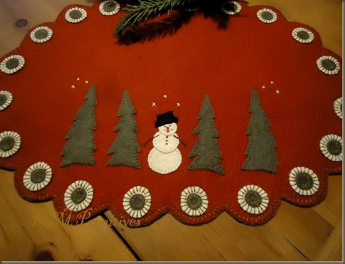 Snowman and trees mat 1