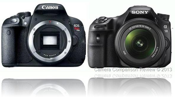 Canon EOS 700D vs Sony Alpha SLT-A58