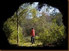 Cueva de las Orcillas - Vistga desde el interior
