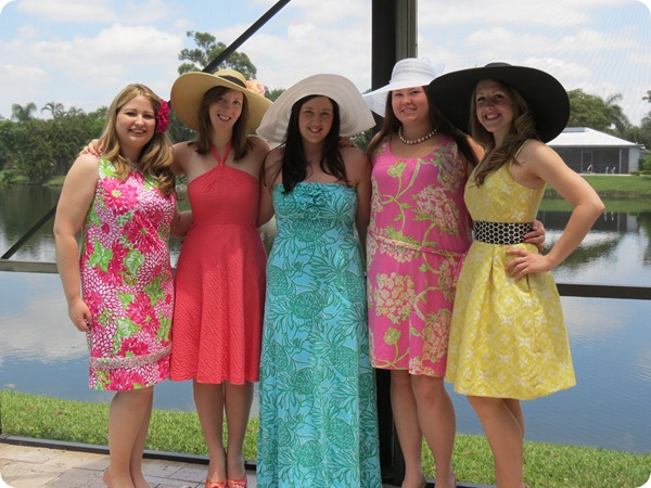 lilly pulitzer bridal shower group