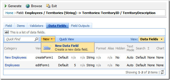 'New Data Field' for Territories field