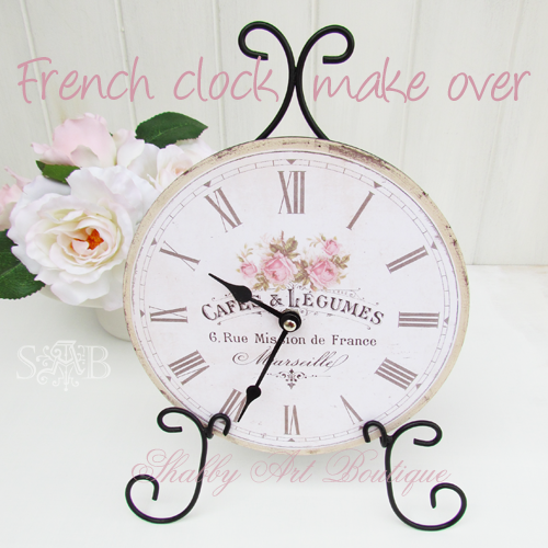 Shabby Art Boutique French clock 4