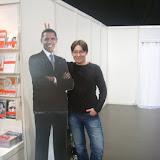 На выставке можно было сфотографироваться с Обамой.