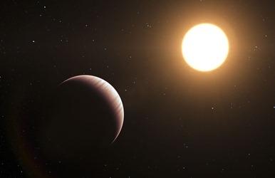 ilustração do exoplaneta Tau Boötis b
