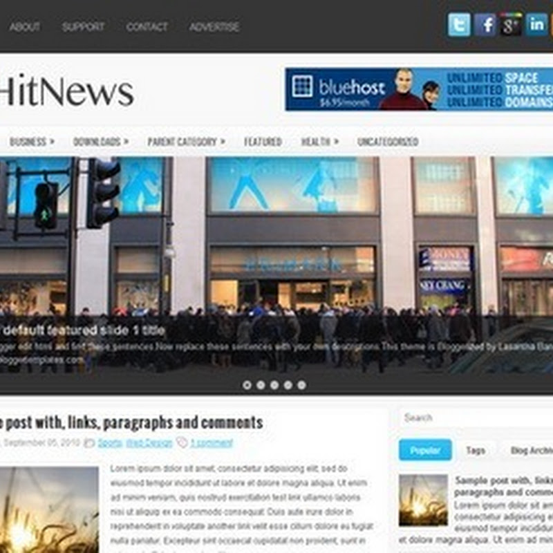 【HitNews】Blogger Template 樣版推薦