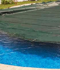 The Merlin Smartmesh safety cover with its 100% shade block is so tightly woven that it will float across the pool water while being installed.<br />More at http://www.propools.com/Merlin-Smartmesh-Pool-Safety-Covers.php