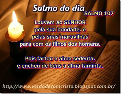 SALMO DO DIA  107