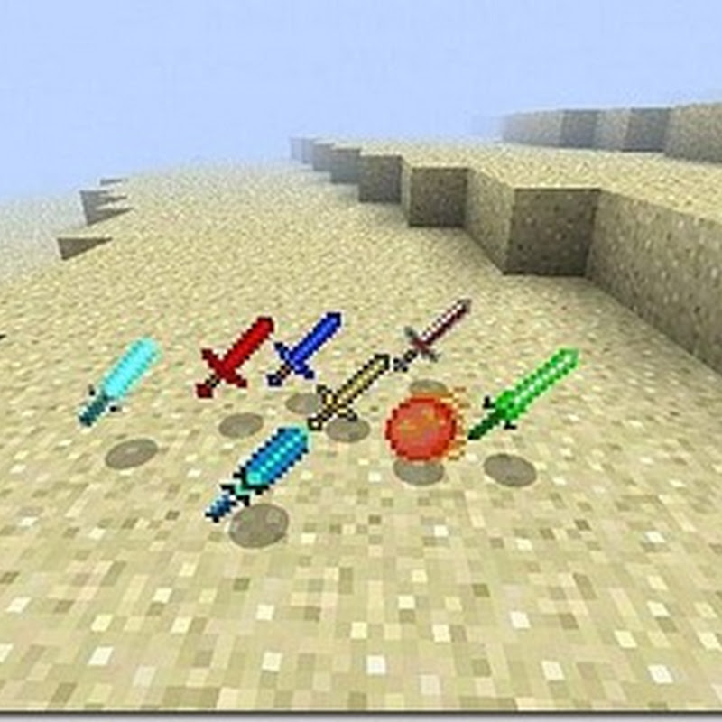 Minecraft 1.2.4 - Elemental Sword Mod (Armi)