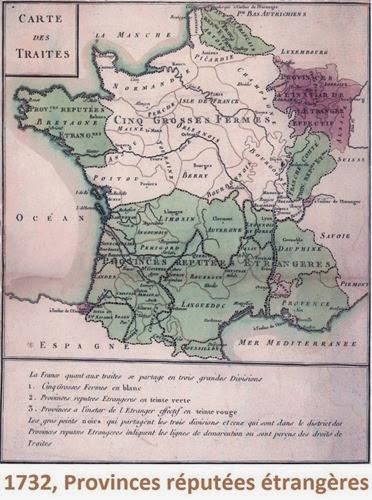 Mapa de fRANÇA 1732