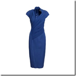 Livia TWIST FRONT DRESS NIGHT SKY