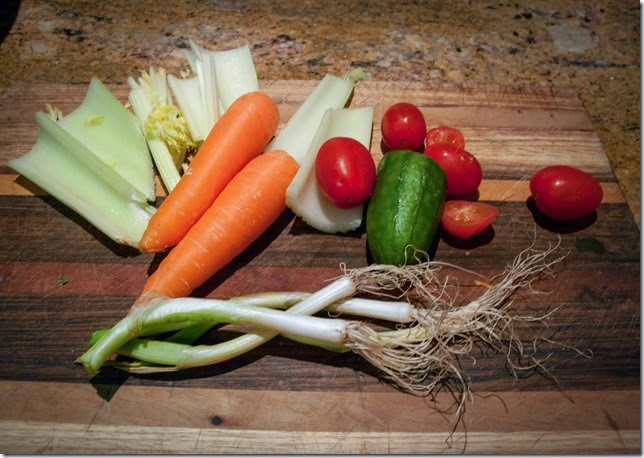 Still Life in Vegitables about to become soup