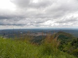 The view northeast from Bukit Jempol (Bukit Serelo) as the storm clouds roll in from the west (Dan Quinn, November 2013)