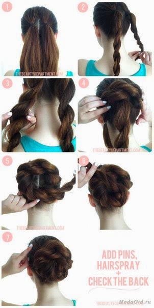 Как сделать простую прическу самой на длинные волосы