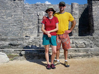 My parents on vacation at the Tulum ruins in Mexico. At least one of them looks awkward in most pictures of just the two of them so I think this one is a real keeper.