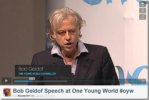 Geldof one yng world