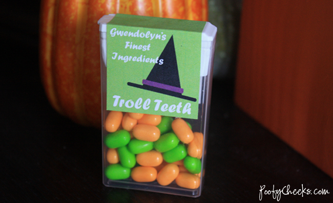 Printable Halloween Tic Tac Cover by Poofy Cheeks