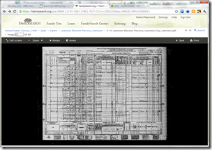 FamilySearch image viewer