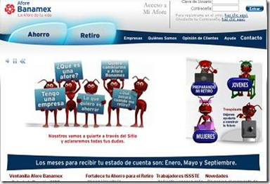 Afore Banamex Estado de cuenta consulta saldos horarios