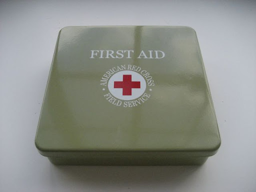 The 100th anniversary first-aid kit from the American Red Cross.  I really like the retro look of the metal case and the color is great.  It will go perfectly with wall color in my apartment.