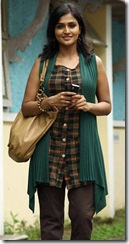Ramya Nambeesan with mobile