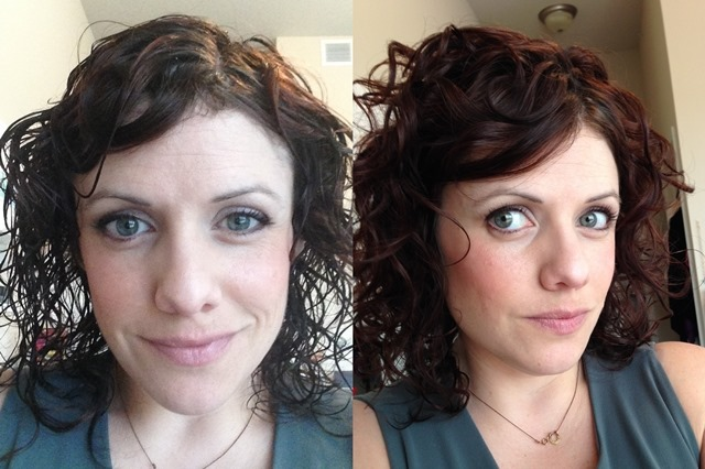 Before and After Infinity Pro by Conair with Diffuser