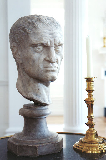 Roehm found the bust, above, in an antique shop on Lexington Avenue.