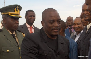 Le Chef de l'Etat Congolais Joseph Kabila à Mbuji-Mayi