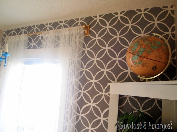 stencil curtains diy