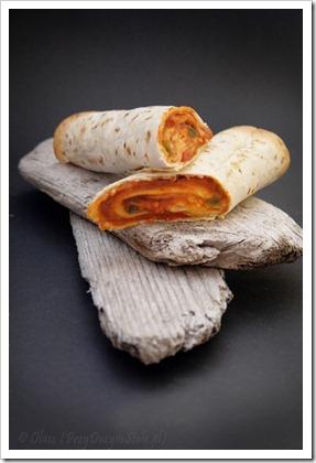 szybki obiad - tortille zapiekane z farszem fasolowo-paprykowym