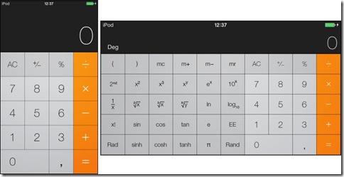 Tastiera calcolatrice iOS