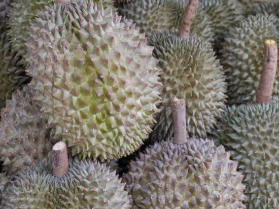 Durian fruit on sale in Singapore
