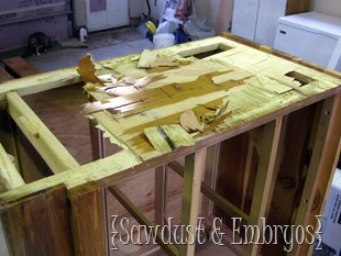Replacing sides of dresser {Sawdust and Embryos}