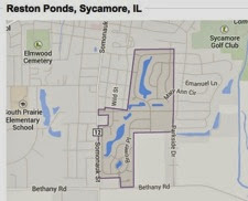 Reston Ponds map