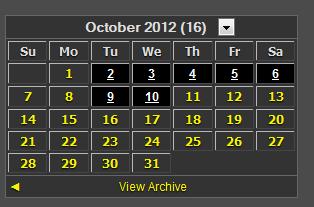 Dark Archive Calendar