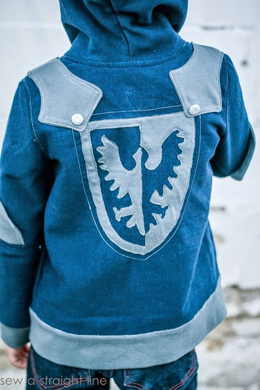 knight hoodie Sew a Staight Line-5